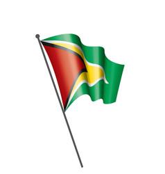 guyana flag on a white vector image