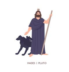 hades or pluto - god dead king underworld vector image