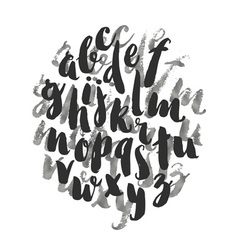 Hand drawn watercolor alphabet made vector