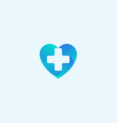 Heart health medical abstract logo design template vector