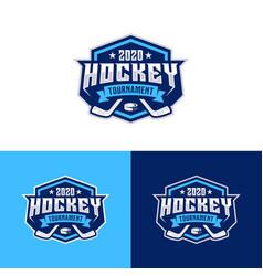 hockey tournament sport logo template vector image