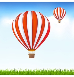 Hot Air Balloons Floating In Sky vector image