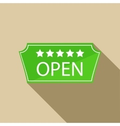 Hotel open sign icon in flat style vector image