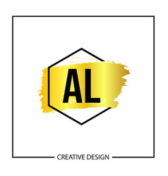 Initial letter al logo template design vector