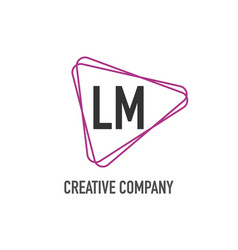 initial letter lm triangle design logo concept vector image