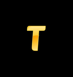 initial letter t with metallic texture trendy 3d vector image
