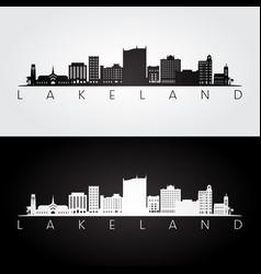 Lakeland florida skyline and landmarks vector