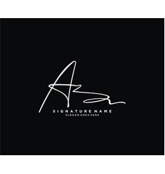 Letter az signature logo template vector