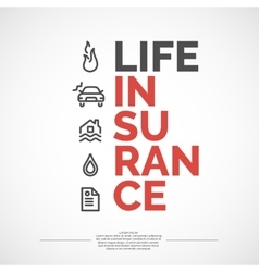 Life insurance poster vector image