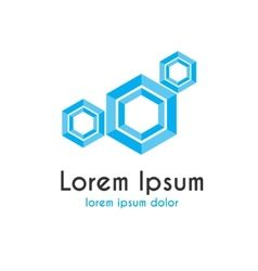 Logo with haxagons vector image