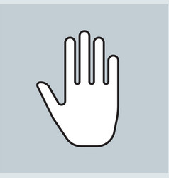 male hand icon for web and mobile design vector image