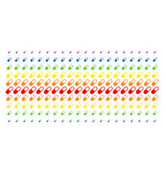 Medication granule shape halftone spectrum grid vector
