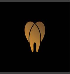 Modern elegant and unique dental icon logo design vector