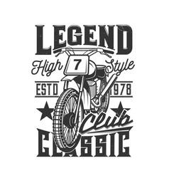 motorcycle races club motorbike speedway bike vector image