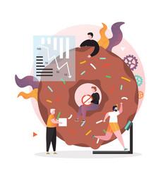 no sugar diet concept for web banner vector image