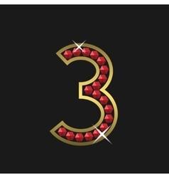 Number three symbol vector