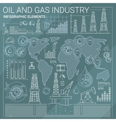 Oil and Gas Industry Infographic Elements vector image