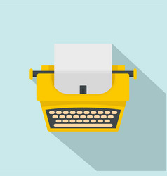 old fashion typewriter icon flat style vector image