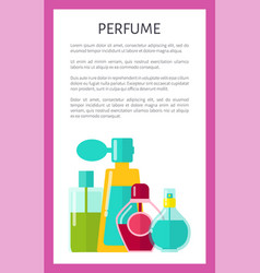 Perfume poster text sample vector