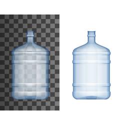 Plastic bottle water cooler big bottle mockup 3d vector