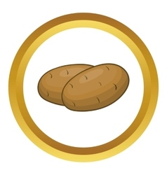 Potatoes icon vector