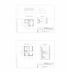 Project of an individual residential house cottage vector