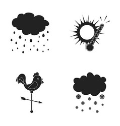 Rain snow heat weathervane the weather set vector