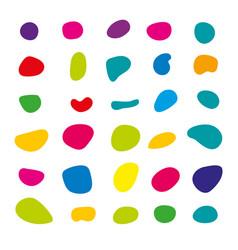 Random blob colorful organic pattern spot shape vector