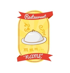 Retro restaurant label vector image