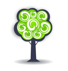 Season tree logo design element vector