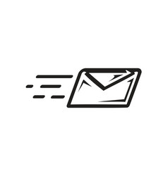 Sending an email icon vector