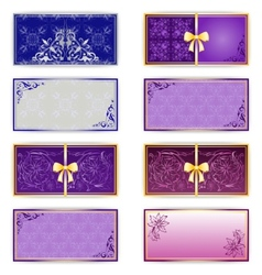 Set of template luxury for greeting card vector image