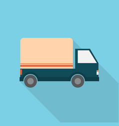 shipping truck icon set of great flat icons with vector image