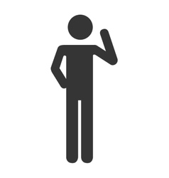silhouette person standing design vector image