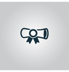 Simple icon diploma vector