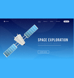 Space exploration landing page template vector