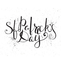St Patricks day lettering vector