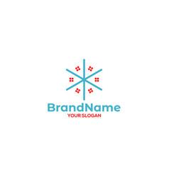 star real estate logo design vector image