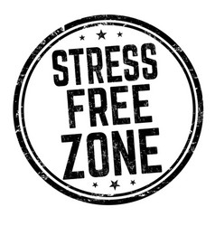 stress free zone sign or stamp vector image