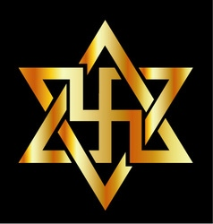 The Raelians symbol in gold vector image