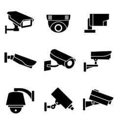 Video surveillance security cameras vector image