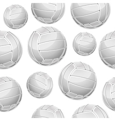 Volley balls seamless pattern vector