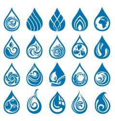 Water drop set vector
