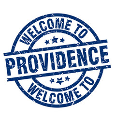Welcome to providence blue stamp vector