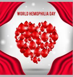 world hemophilia day poster realistic vector image
