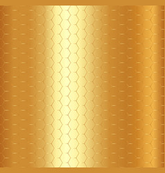 abstract golden hexagon pattern on gold metalic vector image vector image