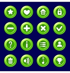 cartoon green Candy buttons for game vector image