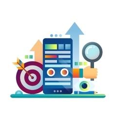 Marketing - flat design website banner vector image vector image