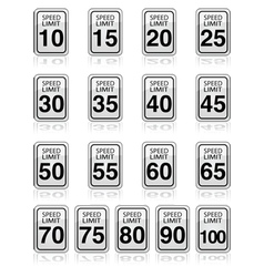Speed limit signs vector image vector image