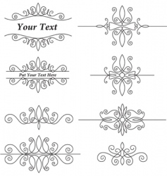 vintage ornaments set vector image vector image